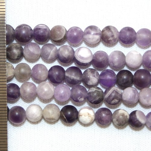 Amethyst Quartz Frosted Round 6mm