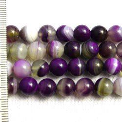 Agate Dyed Purple Round 6mm