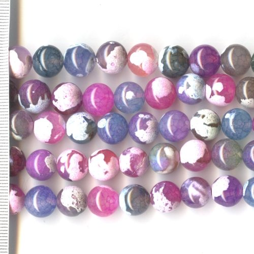 Agate Dyed Pastel Mix Round 10mm