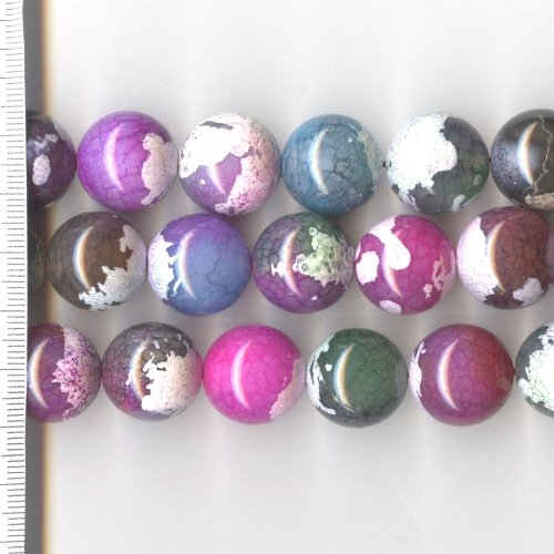 Agate Dyed Pastel Mix Round 18mm
