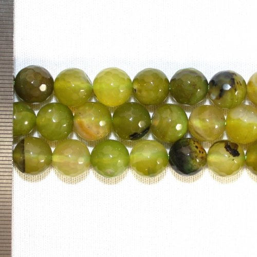 Agate Dyed Green Faceted Round 10mm