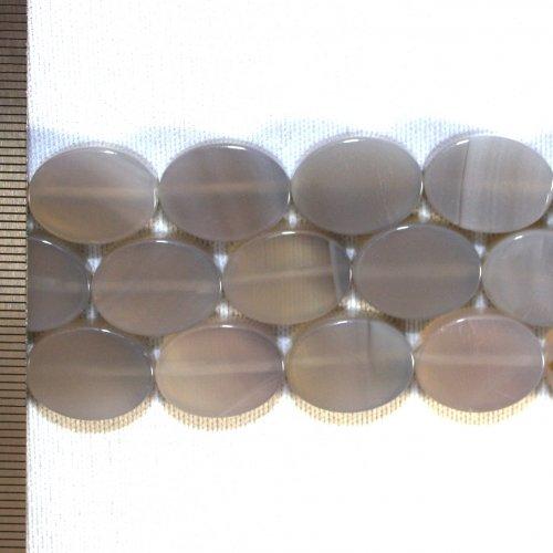 Agate Grey Oval 10x15mm