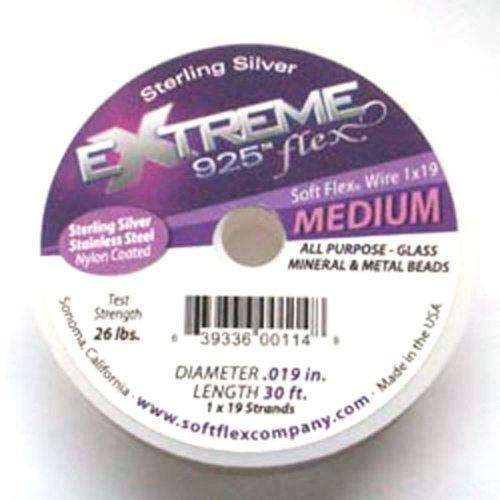 Sterling Silver Soft Flex Wire Medium 30ft