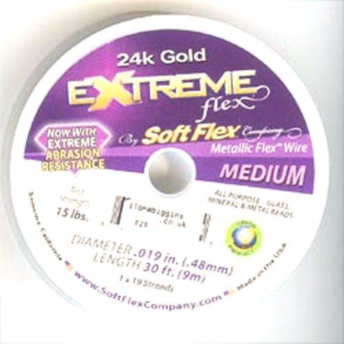 24ct Gold Soft Flex Wire Medium 30ft