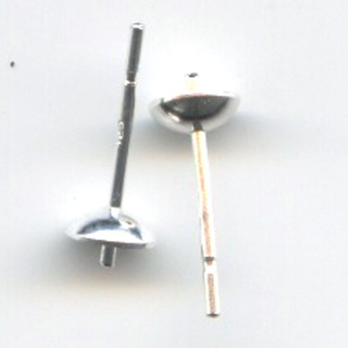 Sterling Silver Cup & Peg 5mm