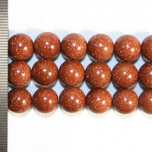Goldstone Brown Round 10mm