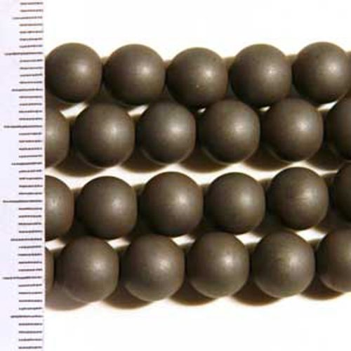 Hematite Frosted Round 8mm
