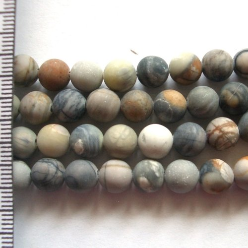 Picasso Jasper Frosted Round 8mm