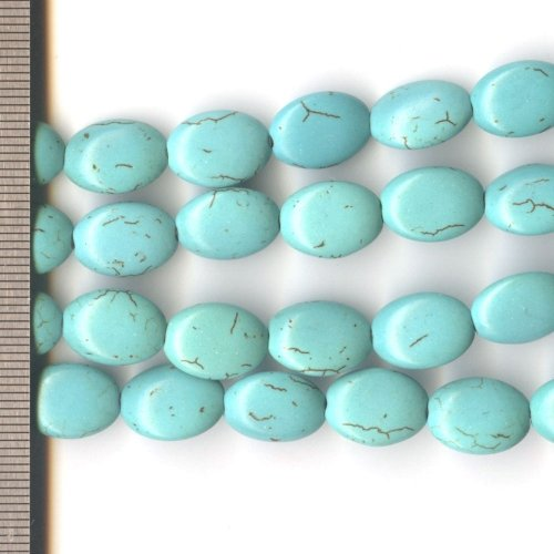 Magnesite Dyed Turquoise Oval 10x14mm