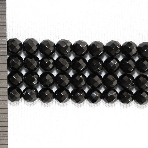 Onyx Faceted Round 6mm