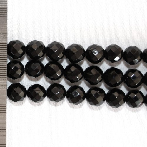 Onyx Faceted Round 10mm