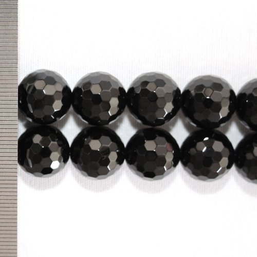 Onyx Faceted Round 14mm