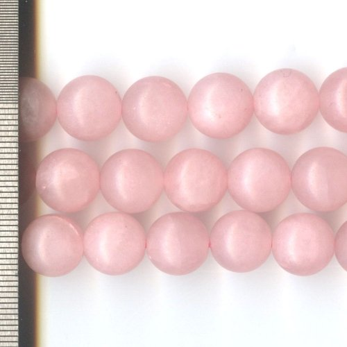 Rose Quartz Frosted Round 12mm
