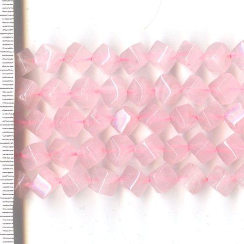 Rose Quartz Cubes 6mm