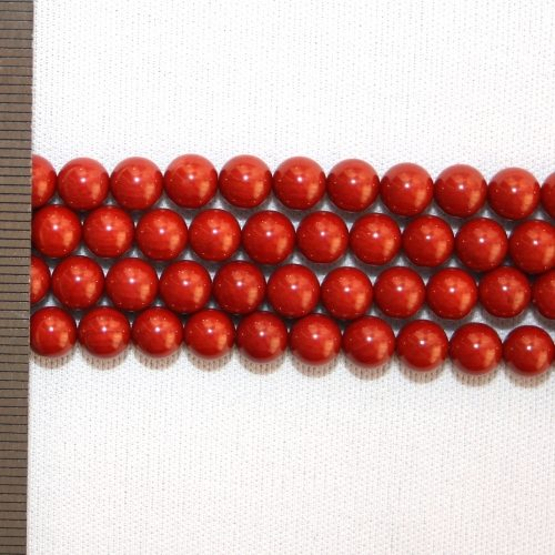 Sea Bamboo Dyed Red Round 6mm