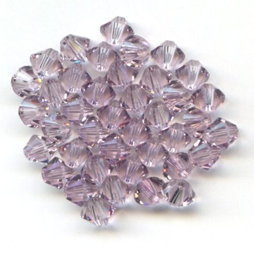 Swarvoski Light Amethyst 4mm Bicone