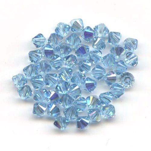 Swarvoski Crystal Aquamarine AB 4mm Xilion