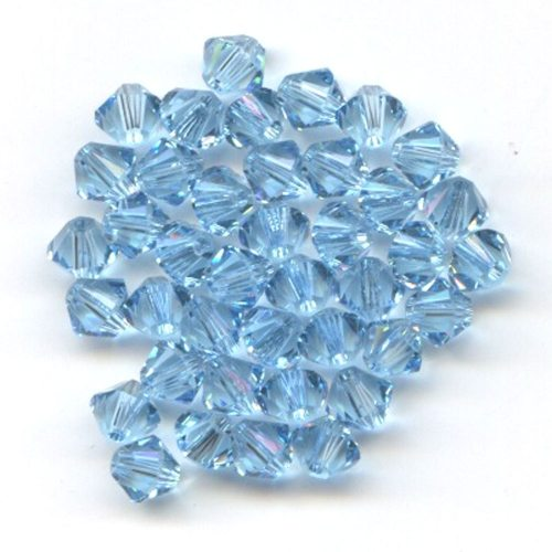 Swarvoski Crystal Aquamarine 4mm Bicone