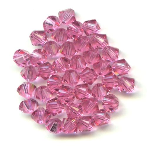 Swarvoski Crystal Rose 4mm Bicone