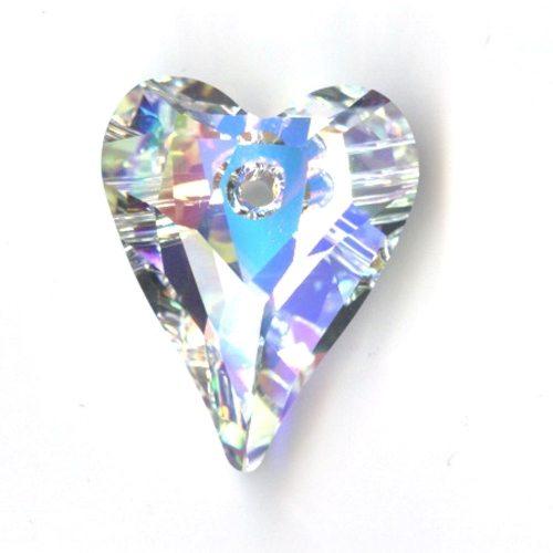 Swarvoski Crystal Wild Heart Pendant 27mm