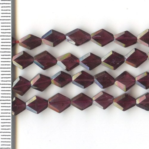Garnet Faceted Diamond 6x8mm