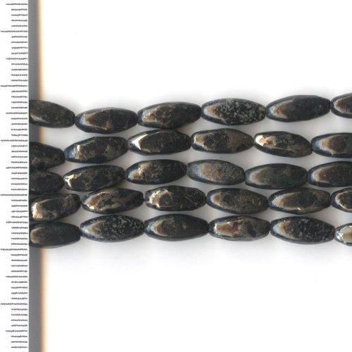 Pyrite Black Rice 5x12mm