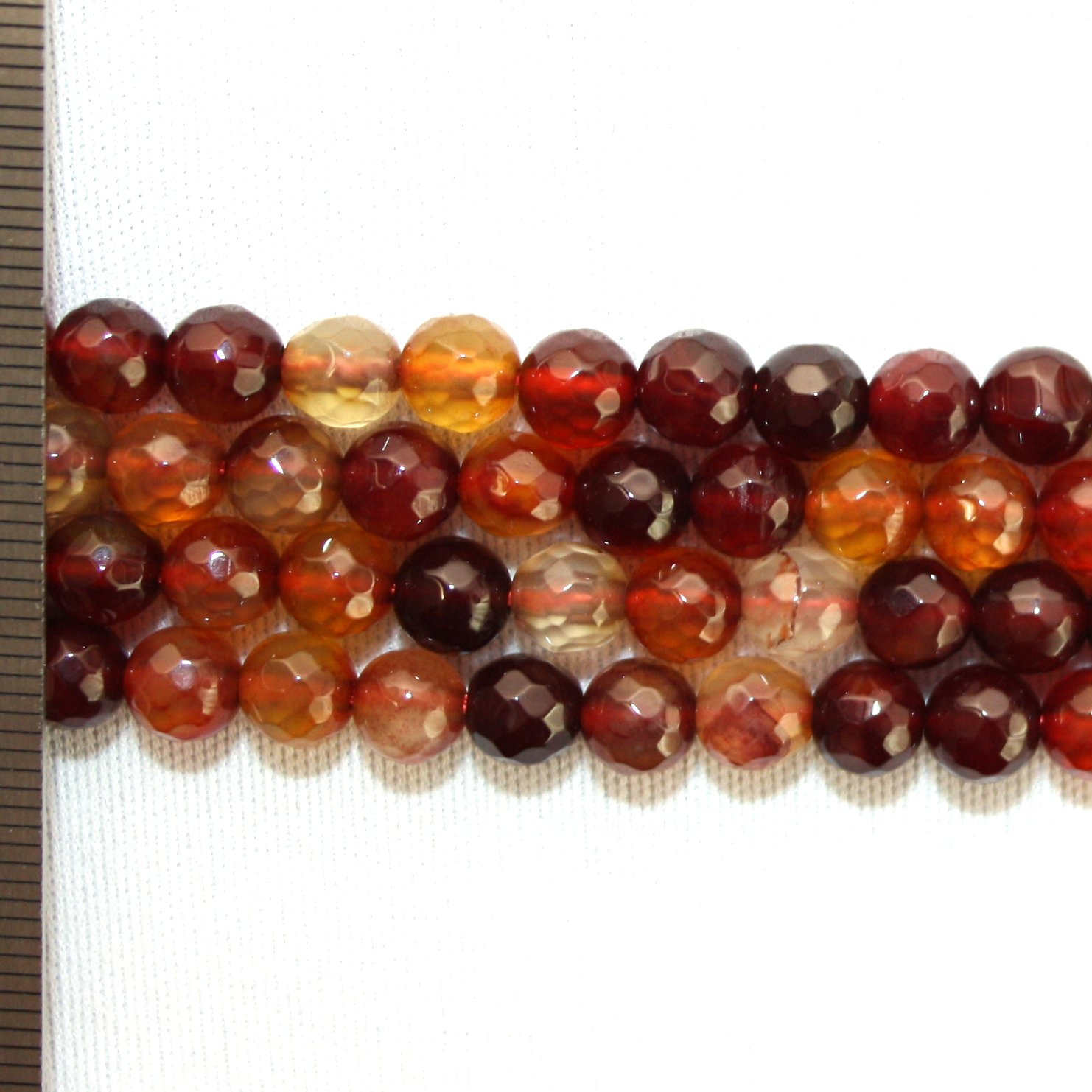 Agate Dyed Faceted Round 8mm