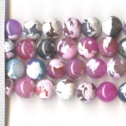 Agate Dyed Pastel Mix Round 14mm