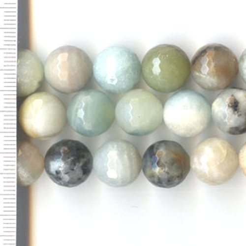 Amazonite Mix Faceted Round 12mm