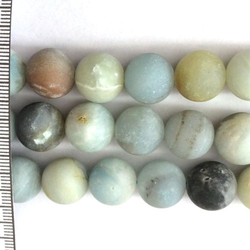 Amazonite Mix Frosted Round 14mm