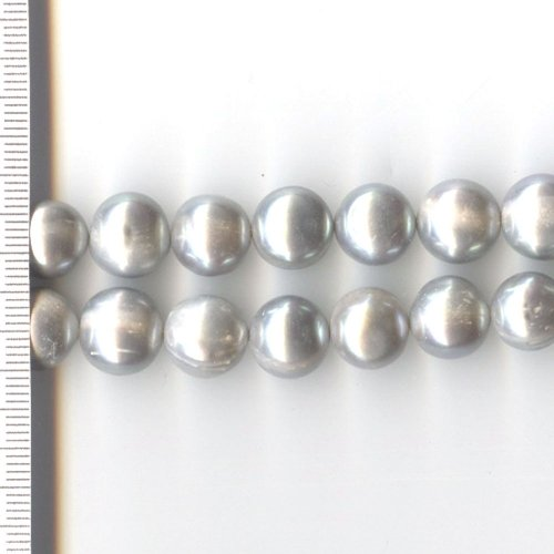 Potato Pearls Dyed Grey 11-12mm