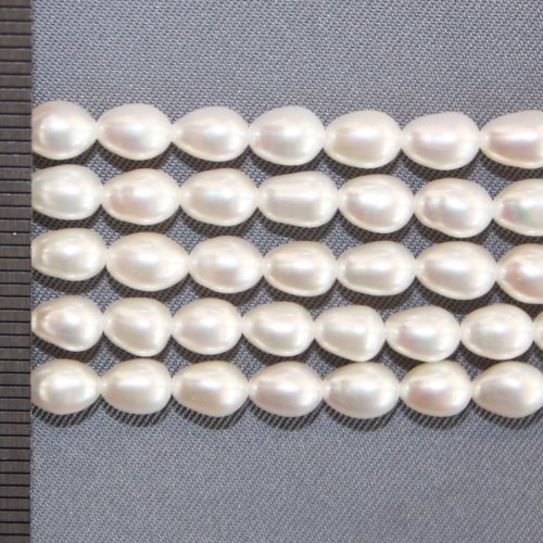 Rice Pearls White 4-4.5mm