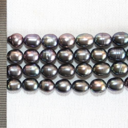 Rice Pearls Dyed Peacock 6.5-7.5mm