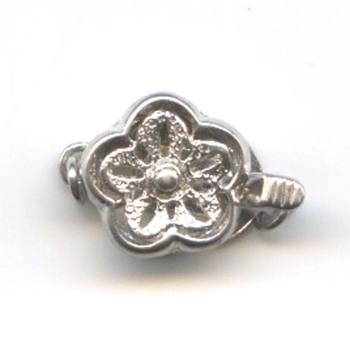 Sterling Silver Flower Clasp 12mm