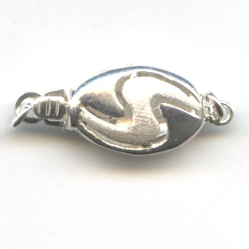 Sterling Silver Oval Clasp 20mm 002