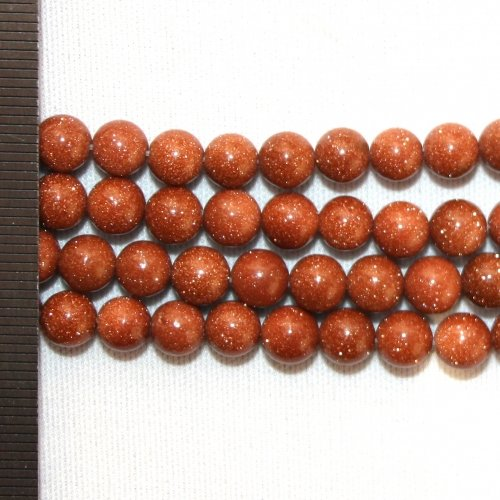 Goldstone Brown Round 6mm