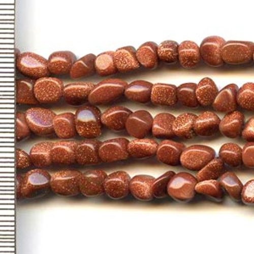 Brown Goldstone Small Nuggets 4mm