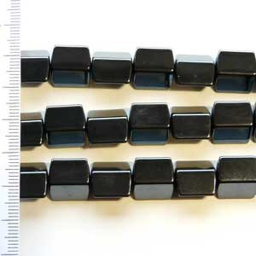 Hematite 4 Sided Rectangle 12mm