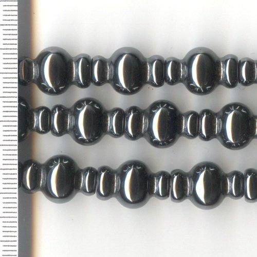 Hematite Lantern 16x10mm