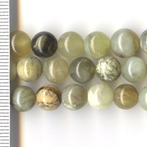 Flower Jade Round 8mm