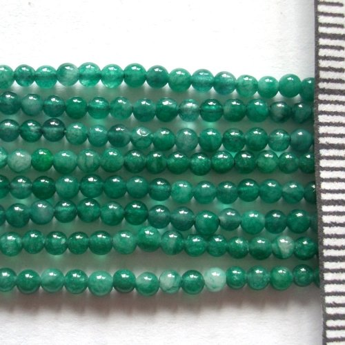 Jade Dyed Dark Green Round 2mm