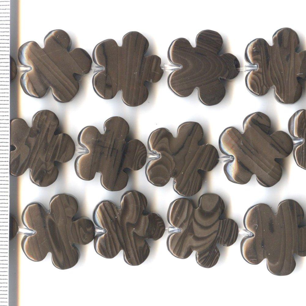 Chocolate Jasper Flowers 20mm