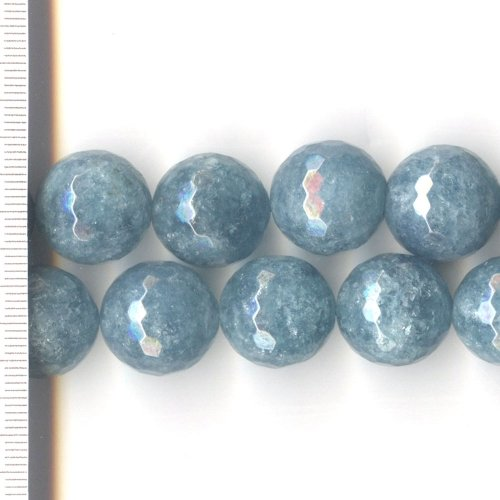 Kyanite Dyed Blue Faceted Round 14mm