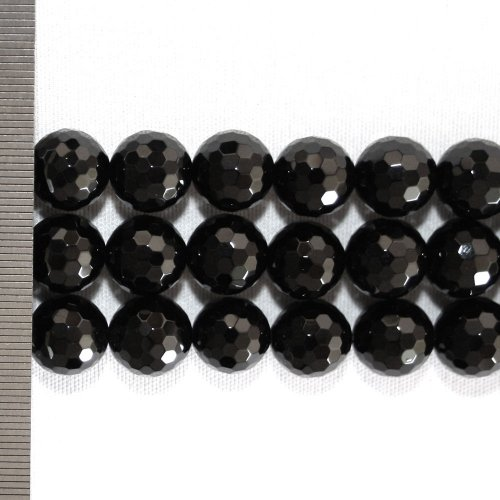 Onyx Faceted Round 12mm