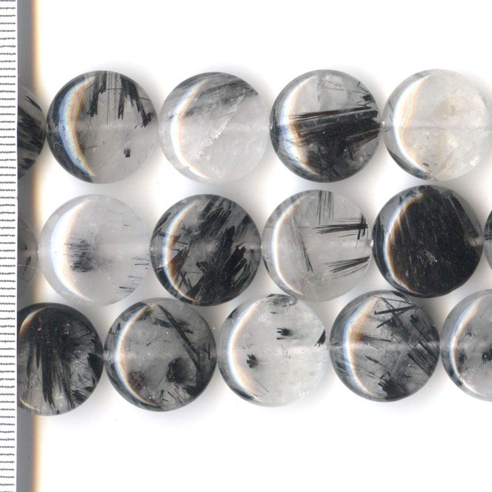 Rutiled Quartz Coin 15mm