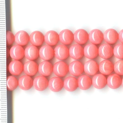 Sea Bamboo Dyed Pink Round 8mm