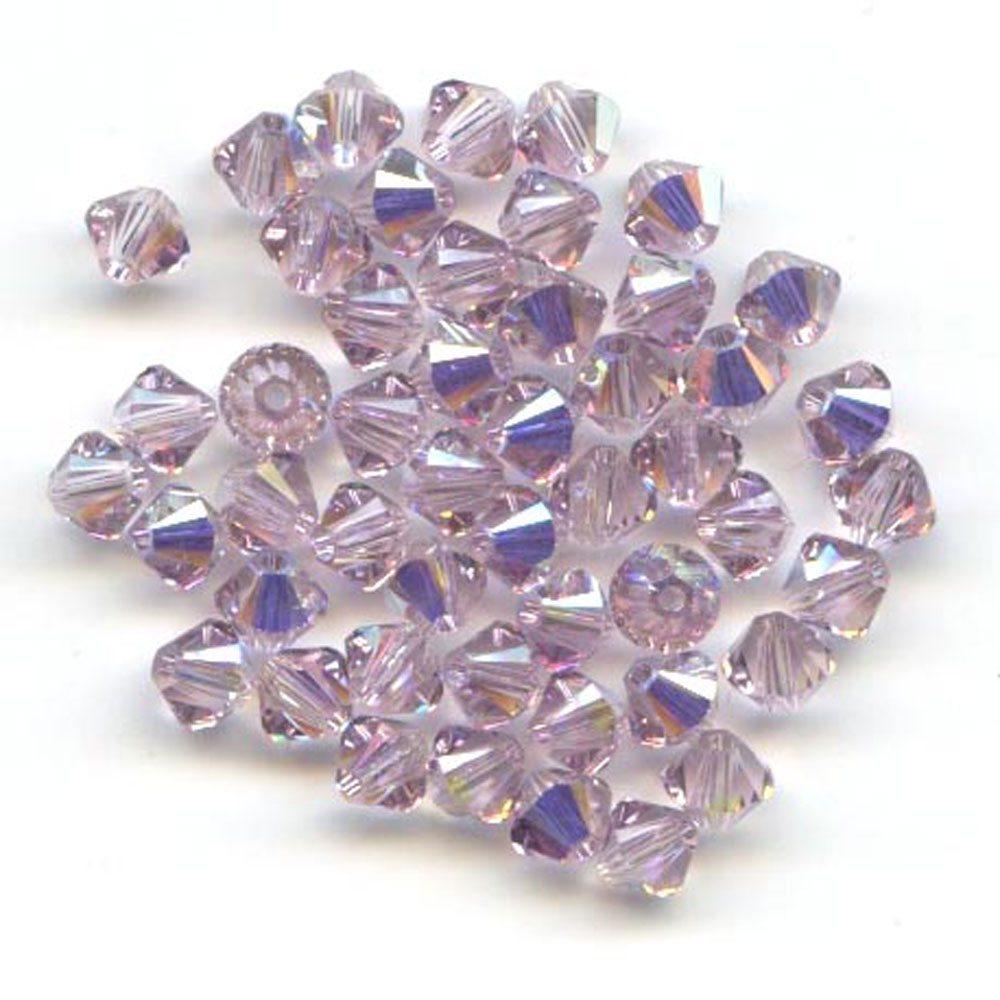 Swarvoski Crystal Light Amethyst AB 4mm Xilion