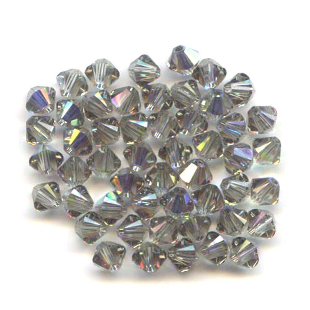 Swarvoski Crystal Black Diamond AB 4mm Xilion