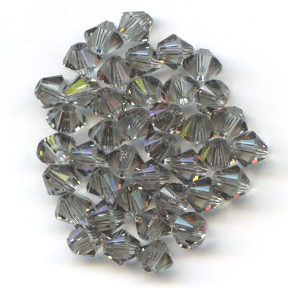 Swarvoski Crystal Black Diamond 4mm Bicone