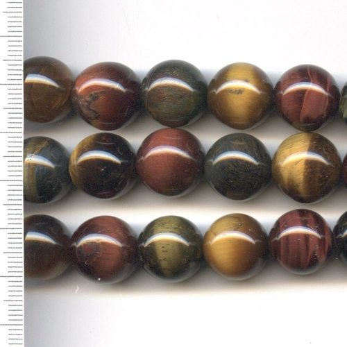 Tigers Eye Multi Colour Round 14mm